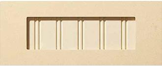 Beaded panel drawer